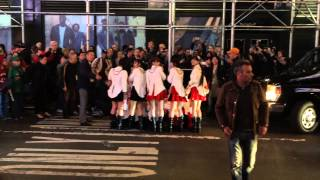 Morning Musume '14 in front of Best Buy Theater