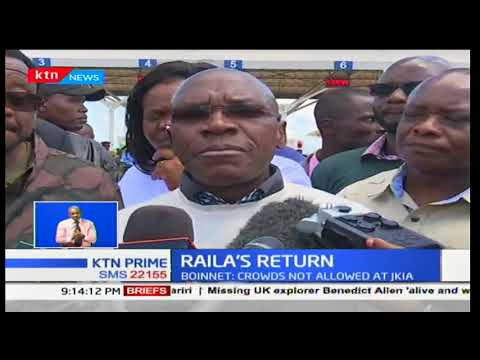 Police block NASA leaders from accessing the airport as they prepare for Raila Odinga's welcome