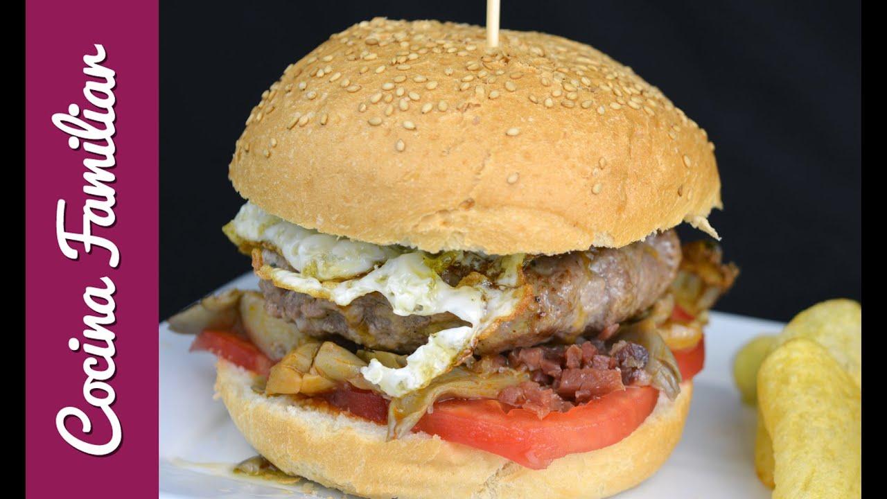 Hamburguesa casera de Cocina Familiar | Javier Romero