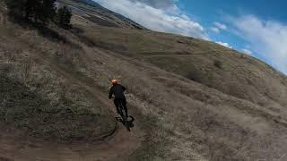 DJI FPV Drone - Following a Mountain Biker