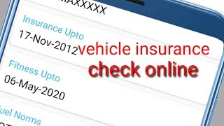 How to check vehicle insurance details online