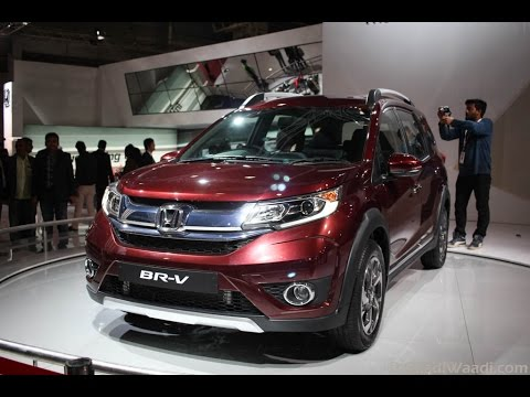 Honda BRV (BR-V) showcased at 2016 Delhi Auto Expo, Walkaround Video