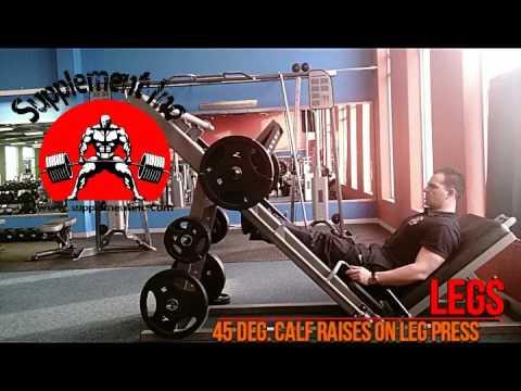 Legs - 45 Degree Calf Raises on Leg Press Exercise Demo and Video @ Supplement Inc