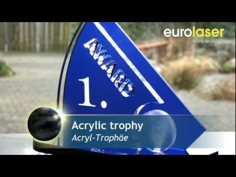 Trophies made of PMMA | Laser cutting and engraving