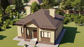 Проект дома 090-B, Площадь дома: 90 м2, Размер дома:  11x9,8 м