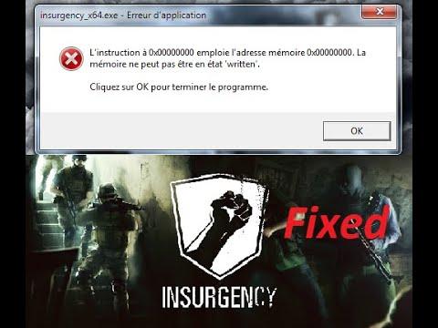 How to  Fix Insurgency 0x00000000 memory error