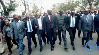 Governors led by Deputy CoG chair Mwangi wa Iria match to the Supreme
