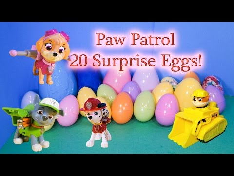 PAW PATROL Opening  20 Funny Surprise Eggs and Toys  Video