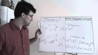 Planimetrie 1 - úvod - Pythagorova věta, cosinová věta, sinová věta, těžnice