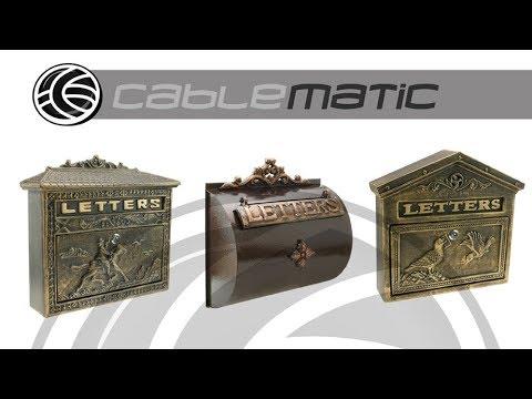 Buzón antiguo de hierro colado para cartas y correo  -  distribuido por CABLEMATIC ®