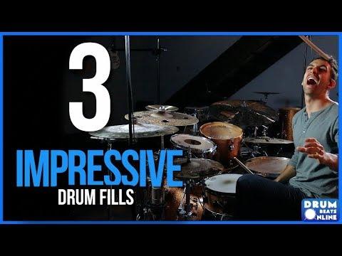3 Drum Fills To IMPRESS Your Friends - Drum Lesson   Drum Beats Online