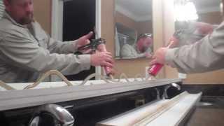 Bathroom Mirror Frame Out, DIY
