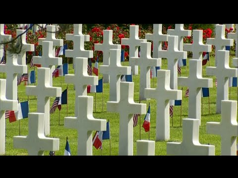 With somber remembrance, President Donald Trump joined French President Emmanuel Macron and veterans at the Normandy American Cemetery in France to honor those fought 75 years ago on D-Day, the assault that portended the end of World War II. (June 6)
