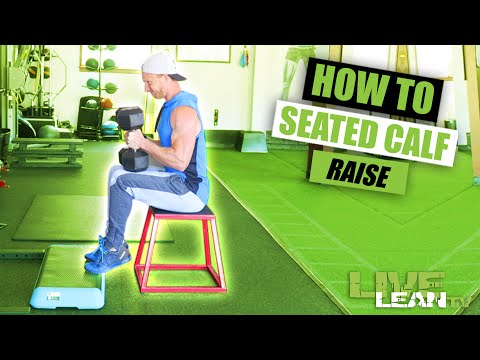 How To Do A DUMBBELL SEATED CALF RAISE | Exercise Demonstration Video and Guide