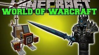 Minecraft: WORLD OF WARCRAFT MOD (LICH KING, FLYING MOUNT, & ICECROWN DIMENSION) Mod Showcase