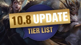 UPDATED Mobalytics Patch 10.8 Low Elo Tier List New OP Champions and Q&A - League of Legends