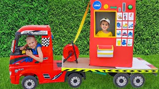 Vlad and Niki Pretend Play with Ride On Cars Toy