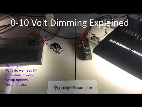 0-10V dimming Explained - What is 0-10 volt dimming?  How does it work?  Installation of 0-10v
