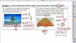 Angle Of Elevation And Depression Trig Word Problems