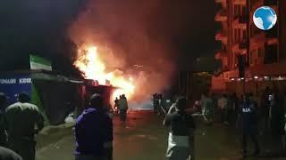 Huge fire sweeps through Pangani estate