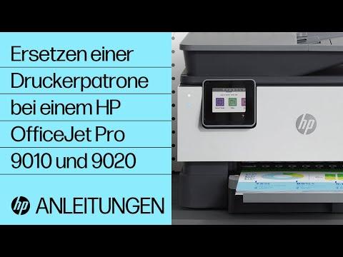 Ersetzen einer Druckerpatrone bei einem Drucker der HP OfficeJet Pro 9010 und 9020 Druckerserie