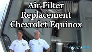 Air Filter Replacement Chevrolet Equinox 2010