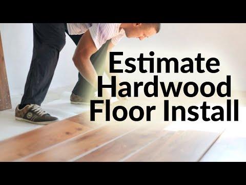 How to Estimate Hardwood Floor Installation Cost per sq ft in Excel
