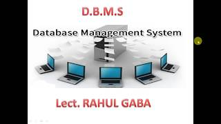 DBMS (Basic Concepts)