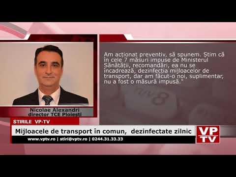 Mijloacele de transport în comun,  dezinfectate zilnic