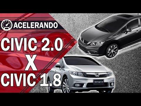Honda Civic - Civic 2.0 vs Civic 1.8 - | Acelerando |