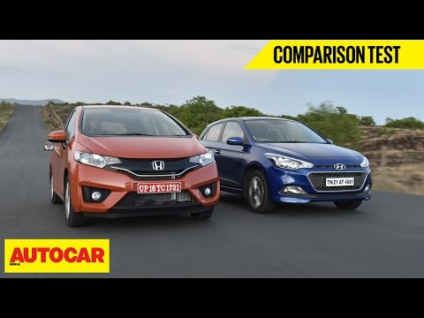 Hyundai Elite i20 vs 2015 Honda Jazz | Comparison Test | Autocar India