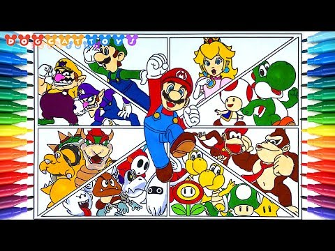 How To Draw Super Mario Bros Charactors 249 Drawing Coloring
