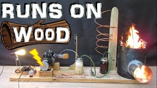 How to Make a Generator that Runs on Wood!!! (wood gas gasifier) Experiment | Kholo.pk