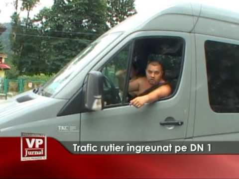 Trafic rutier îngreunat pe DN1
