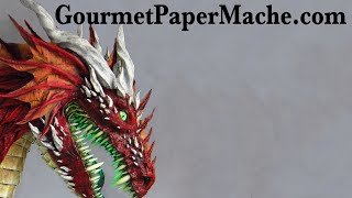 New Paper Mache Red Dragon!