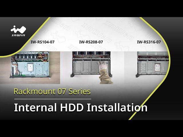 07 Series Internal HDD Installation