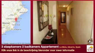 preview picture of video '3 slaapkamers 2 badkamers Appartement te Koop in La Mata, Alicante, Spain'