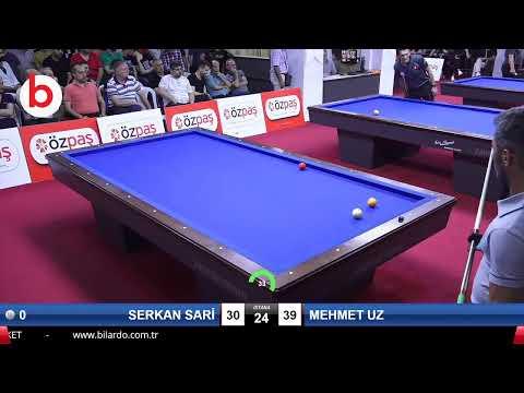 SERKAN SARİ & MEHMET UZ Bilardo Maçı - SAKARYA ÖZPAŞ CUP 2019-3.TUR