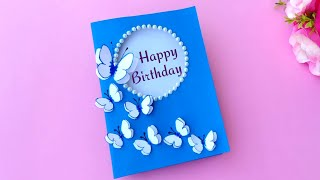 How to make Butterfly Birthday Card for Best friends // Handmade easy card Tutorial