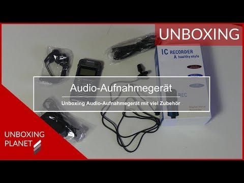 Kleines Audio-Aufnahmegerät mit Zubehör