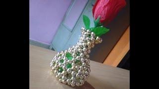 Pearl Beaded Flower Pot for Beginners