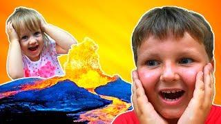 🌋 THE FLOOR IS LAVA CHALLENGE! ПОЛ ЭТО ЛАВА ЧЕЛЛЕНДЖ! Family Fun Kids Pretend Playtime