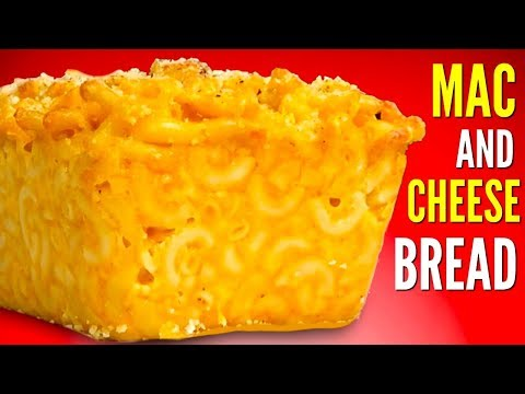 MAC N' CHEESE BREAD! - How To Make Macaroni & Cheese Bread DIY
