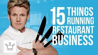 15 Things About Running A Restaurant Business