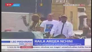 Wafuasi wa upinzani kutoka muungano wa NASA wampokea kinara Raila Odinga