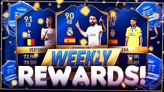 TOTS IS HERE AND WE GOT ONE ALREADY!! FIFA 17 FUT CHAMPIONS REWARDS