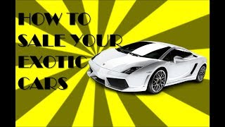 The Best Place To Sell Exotic Cars Even If You Are Lazy