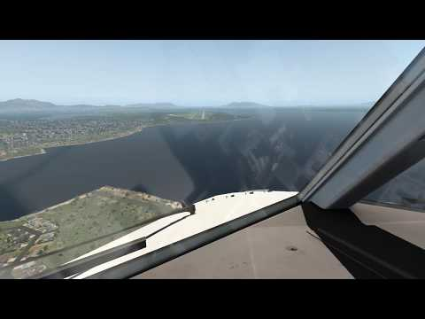Landing at Congonhas Airport SBSP / SUNSET / FULL HD / X PLANE 11