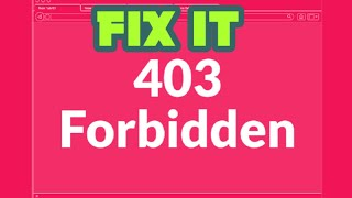 How to fix Error 403 (forbidden) in any web page in google chrome || Don't forget to subscribe