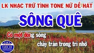 lien-khuc-nhac-sen-tru-tinh-karaoke-tone-nu-de-hat-song-que-gia-tu